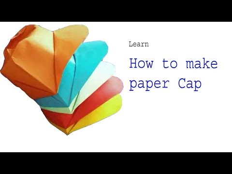 How to make paper cap || paper creation || DIY origami hat making easy and simple ||