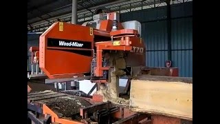Wood-Mizer LT70Remote sawing tropical logs in Malaysia