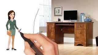 Brushed Maple Finish Sauder Computer Desk | Desks and Tables