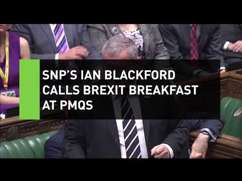 SNP's Ian Blackford gets breakfast confused with Brexit