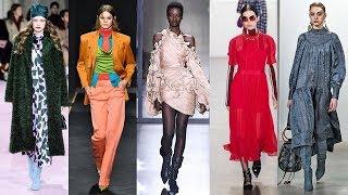 главные модные цвета одежды осень-зима 2019-2020 Палитра Нью-Йорк / Pantone