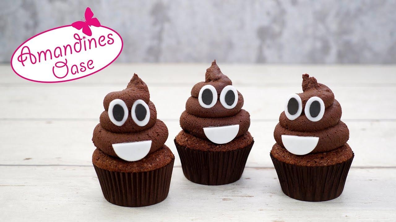 kackhaufen cupcakes poop emoji chocolate cupcakes lecker lustig youtube. Black Bedroom Furniture Sets. Home Design Ideas