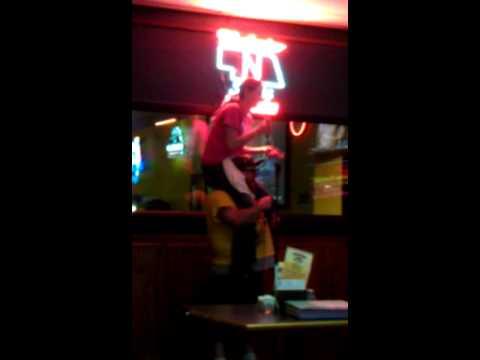 Totem pole karaoke.