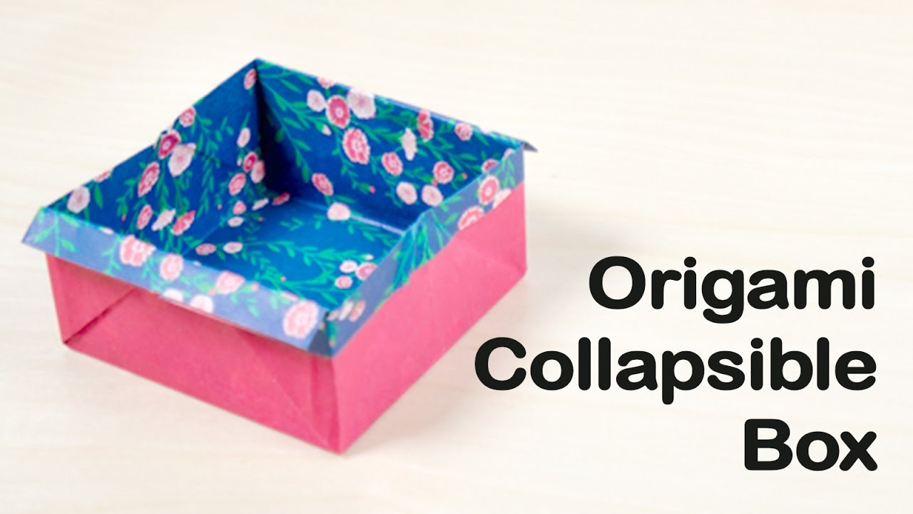 14 collapsible box origami for beginners youtube