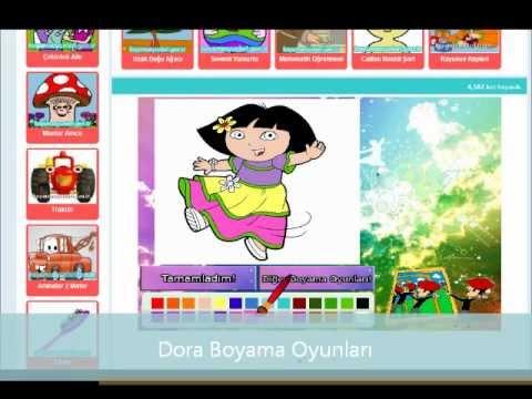 Dora Boyama Oyunları Wwwboyamaoyunlarigentr Youtube