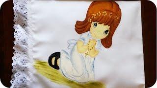 Paso a paso servilleta de 1ra comunión | Pintura textil (3/4)