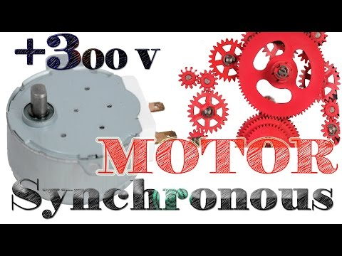 Inside a Microwave Oven motor Synchronous Motor dismantle