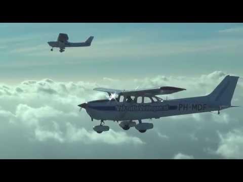 Sky Service Netherlands air to air flight