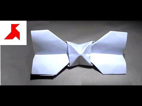 Как сделать бабочку галстук из бумаги
