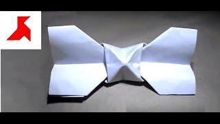 Как сделать галстук-бабочку из бумаги А4?(Оригами галстук-бабочка, сложенный своими руками по инструкции из одного белого листка бумаги формата..., 2016-09-06T00:16:43.000Z)