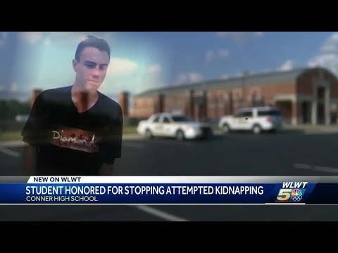 Student honored at Conner High School for stopping alleged kidnapping in parking lot