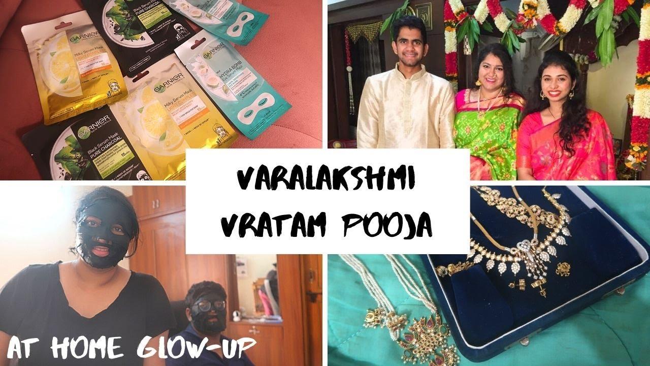 First Varalakshmi Vratam After the Wedding |Skin Care ft Garnier| Saree & Jewellery|Priyanka Boppana