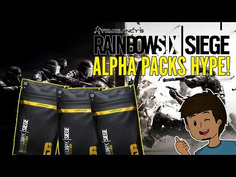 Rainbow 6 Siege ALPHA PACKS HYPE! Renown Grind w/ Subs (PS4)