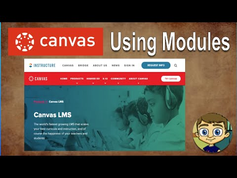 Canvas LMS Tutorial - Using Modules To Build A Course