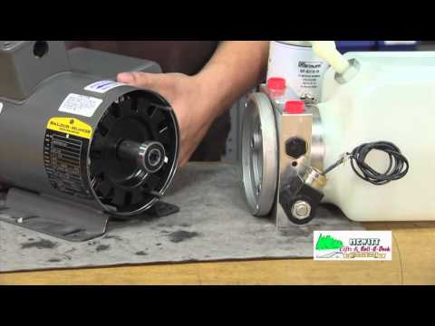 Replacing the 220 volt motor on a hydraulic boat lift pump