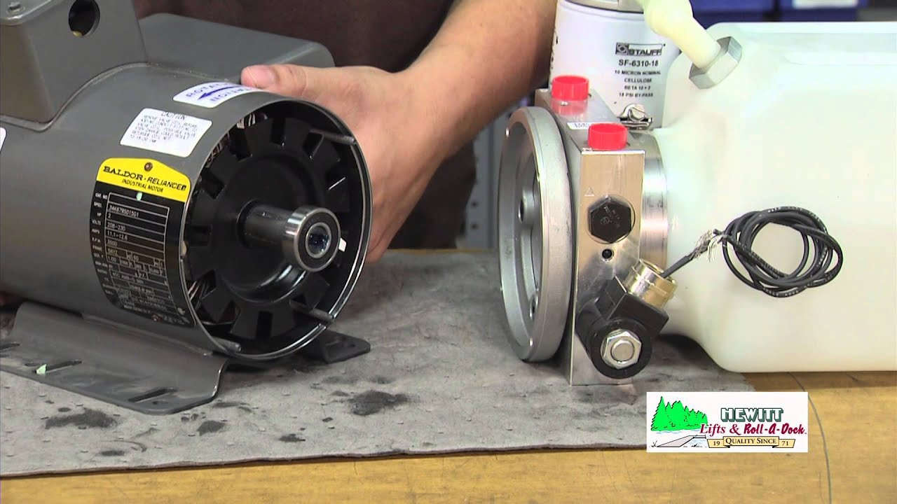 Electric Hydraulic Pump >> Replacing the 220-volt AC Motor on a Hydraulic Boat Lift Pump - YouTube