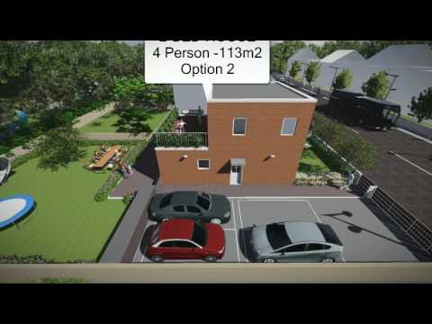 Buildeco flat-pack FlexiHouse '2Bed House' (Option 2)