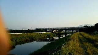 後藤寺線 回送列車 5両編成 中元寺川橋梁