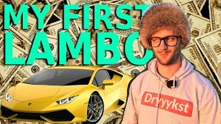 MY FIRST LAMBORGHINI BOUGHT FROM YOUTUBE MONEY AND I HAVE ONLY 300K SUBSCRIBERS