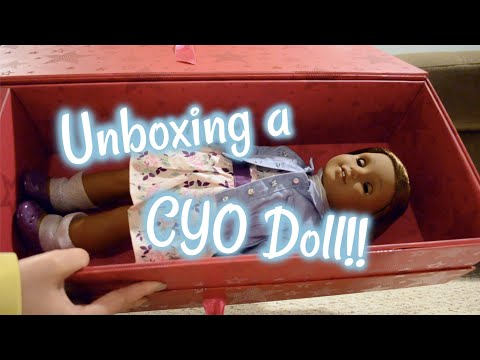 Unboxing A Create Your Own American Girl Doll!! (Dark Skin Josephina Mold)