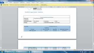 Documents Wizard for CRM 2011 - Document template