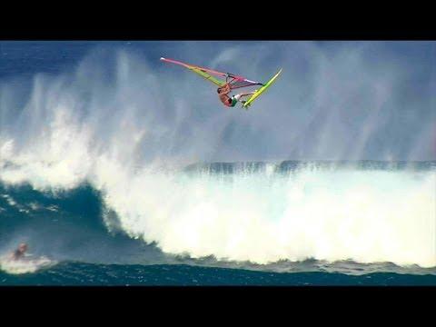 Windsurfers get HUGE air at Lanes, Hawaii