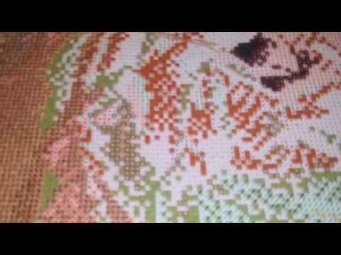 Набор для вышивки крестом из Китая Белые розы 3D