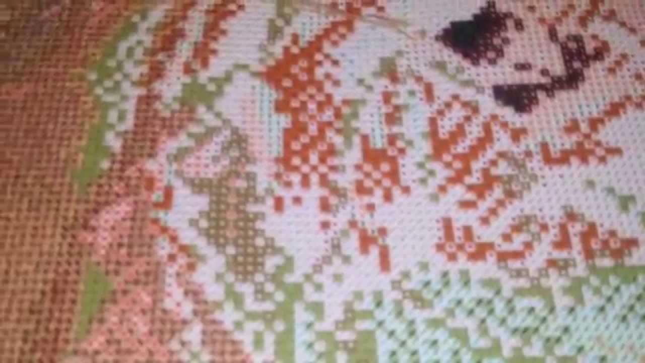Создание дизайна машинной вышивки на основе схемы вышивки крестом .