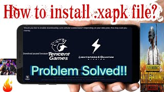 Gambar cover How to install .xapk file in android? PUBG intallation XAPK file[Best Explain in Hindi]