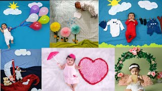 50 New born baby photoshoot ideas at home || Simple and easy new born photography ideas