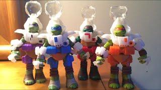Teenage Mutant Ninja Turtles Dimension X Turtles Action Figures Toy Review