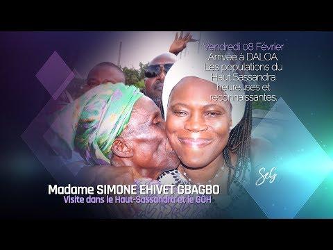 DALOA RECOIT MADAME SIMONE EHIVET GBAGBO