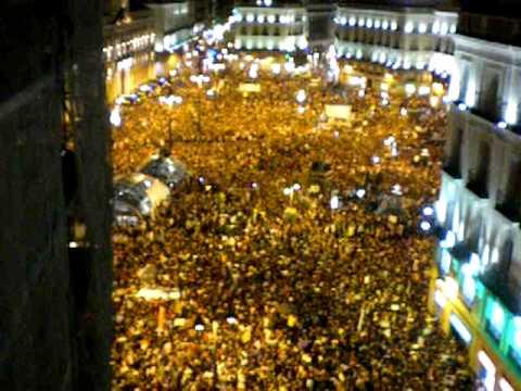 הפגנות ענק במדריד