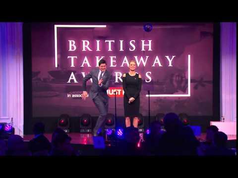 Vernon Kay v Ainsley Harriott dance off at #theBTAs