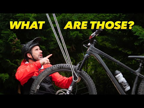 Testing a mountain bike product for plowing spider webs