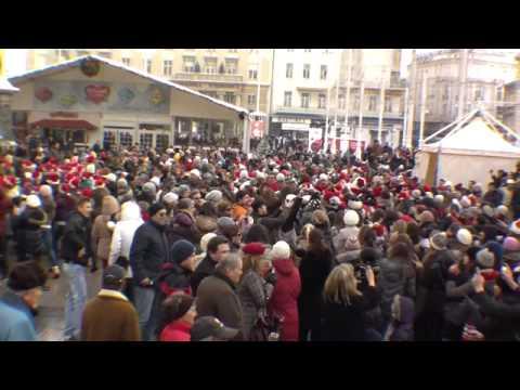 Flashmob Zagreb 2010-12-18