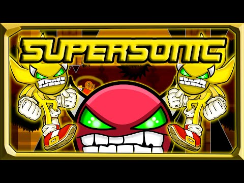 Geometry Dash | Very Hard Demon! | Supersonic By Many People | FINALY! {Live}