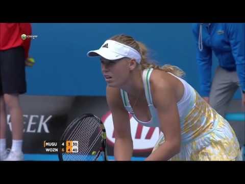 Muguruza V.S Wozniacki Highlights (Australian Open 2014)