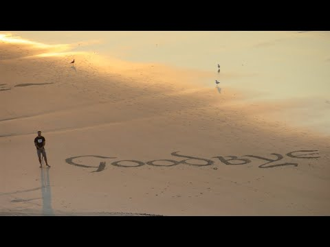 Satisfying Beach Calligraphy I - Drone footage