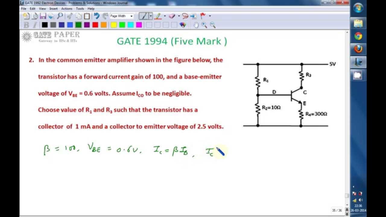 Gate 1994 Ece Transistor Biasing Design Of Self Bias Or Voltage Figure 5 Bipolar Amplifier Schematic Potential Divider Circuit