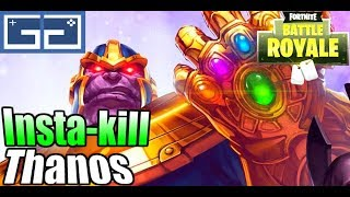 Thanos in Fortnite [Gameplay]!! How To Insta DIE as Thanos (RIP)   Fortnite Fails!