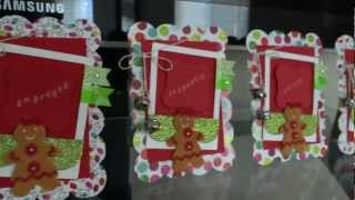 Gingerbread Decorating Party: Children's Place Cards/photo Frame