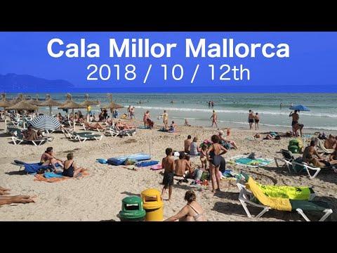 Majorca Cala Millor Spain Beach 2018 October 12th