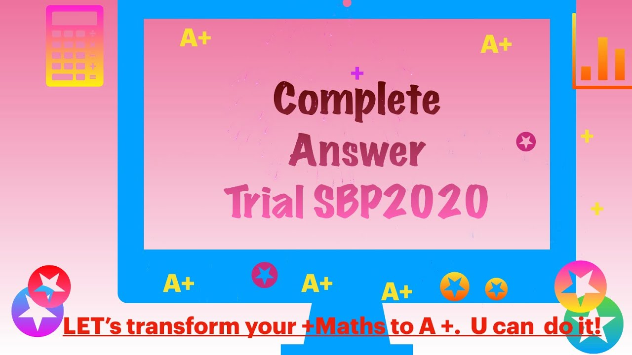Spm 2021 Trial Exam Sbp 2020 Paper 1 Answer Youtube