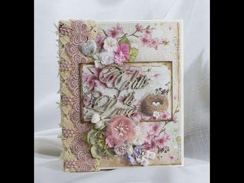 Stamperia Flower Alphabet Custom Baby Girl Mini Album Youtube