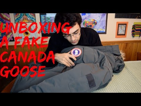 Unboxing a Fake Canada Goose Parka