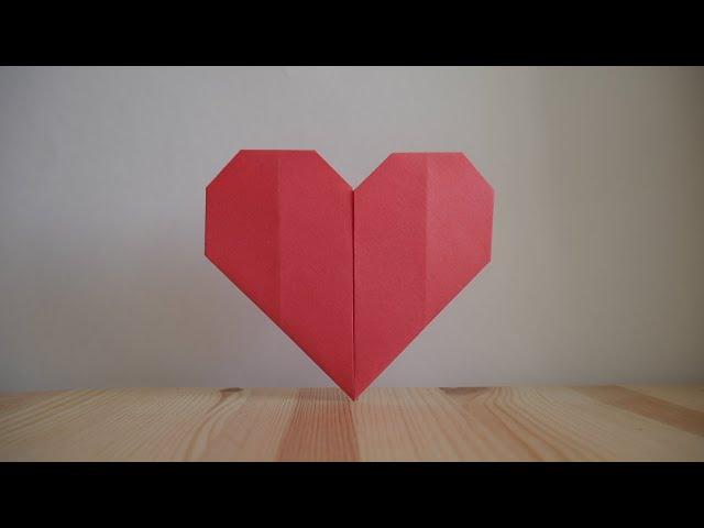 Оригами. Как �делать �ердце из бумаги (видео урок)
