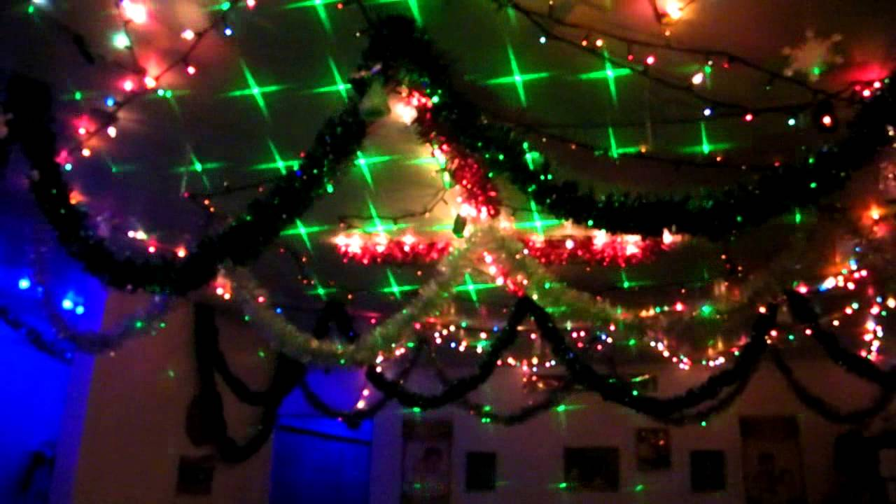 Christmas Laser Lights & Regular Lights - YouTube