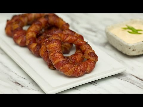 Use Bacon Instead of Breading for No-Carb Onion Rings