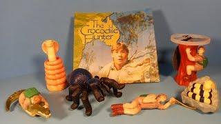 2002 ANIMAL PLANETS THE CROCODILE HUNTER SET OF 5 BURGER KING KID
